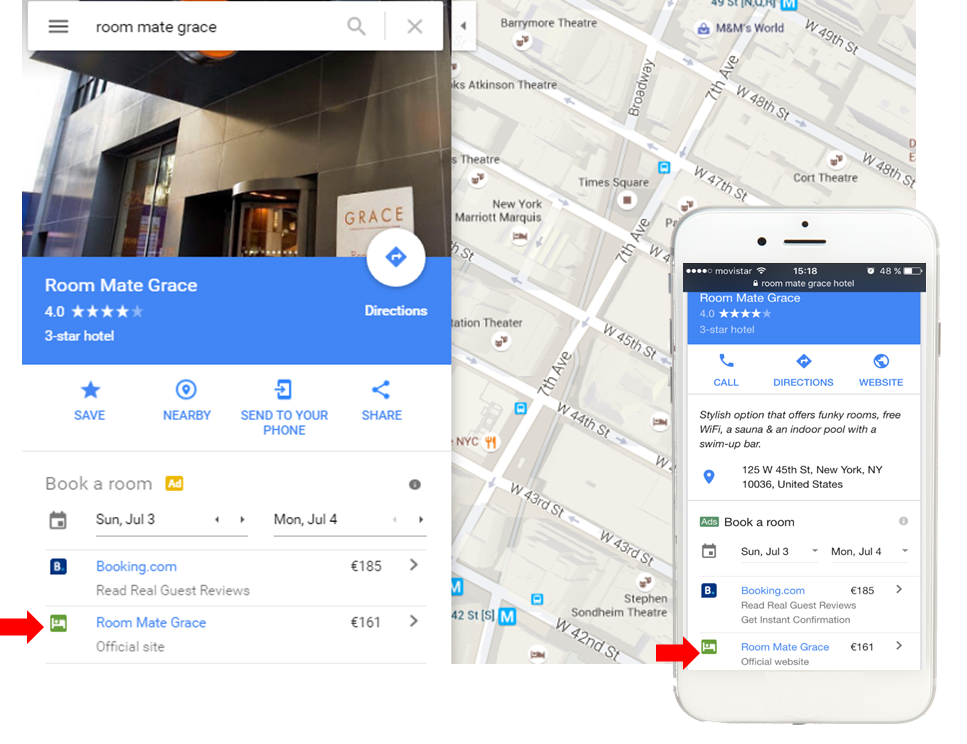 google hotel ads example