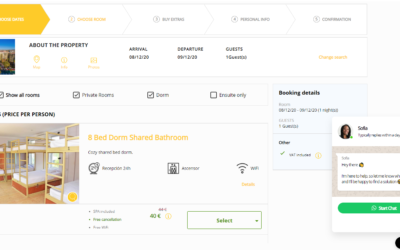 Introducing: online chat in your booking engine